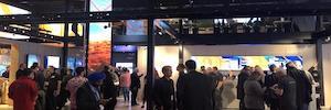 NEC Display crea en ISE 2019 escenarios de visualización UHD y proyección láser ultra-silenciosa