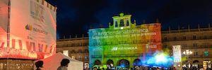 Salamanca vuelve a convertirse en un lienzo de proyección en el Festival de Luz y Vanguardias 2019
