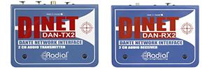 Radial DiNET DAN: audio analógico a través de Dante o AES67