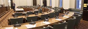 Bosch ayuda a introducir la tecnología IP en el Parlamento de Finlandia