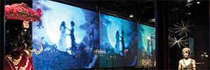 """La pantalla transparente de 80"""" dnp ClearSign lleva a nuevos niveles la señalizacion digital"""