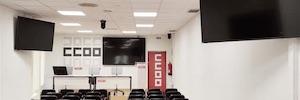 HubTech realiza la transformación AV de la sala de actos de Comisiones Obreras Aragón