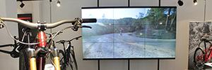 PPDS brinda el digital signage a la nueva tienda de ciclismo profesional alemana